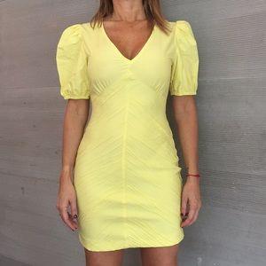 ZARA light yellow mid dress 🌼